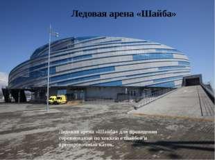 Ледовая арена «Шайба» для проведения соревнований по хоккею с шайбой и тренир