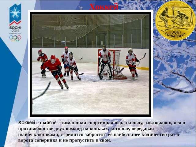 Хоккей Хоккейс шайбой - командная спортивная игра на льду, заключающаясяв п...