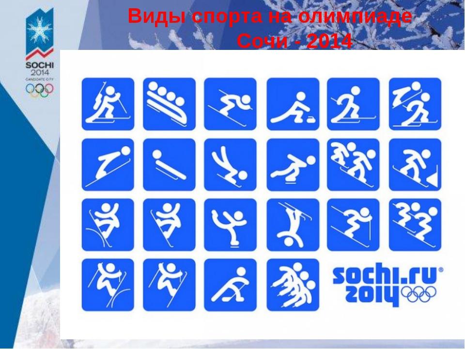 Виды спорта на олимпиаде Сочи - 2014