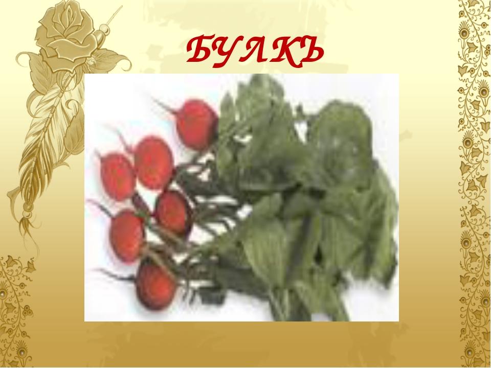 БУЛКЪ