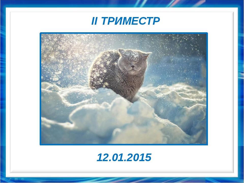 II ТРИМЕСТР 12.01.2015