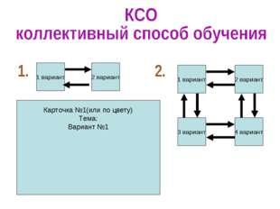 1 вариант 2 вариант 1 вариант 3 вариант 2 вариант 4 вариант Карточка №1(или п