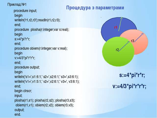 Домашнє завдання: Створити власні програми за аналогією 1. прикладу №1 (проце...