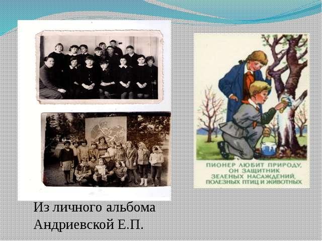 Из личного альбома Андриевской Е.П.