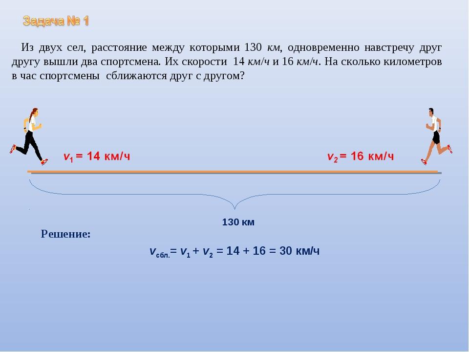 Решение задач на навстречу друг другу практическая работа решение экспериментальных задач рудзитис