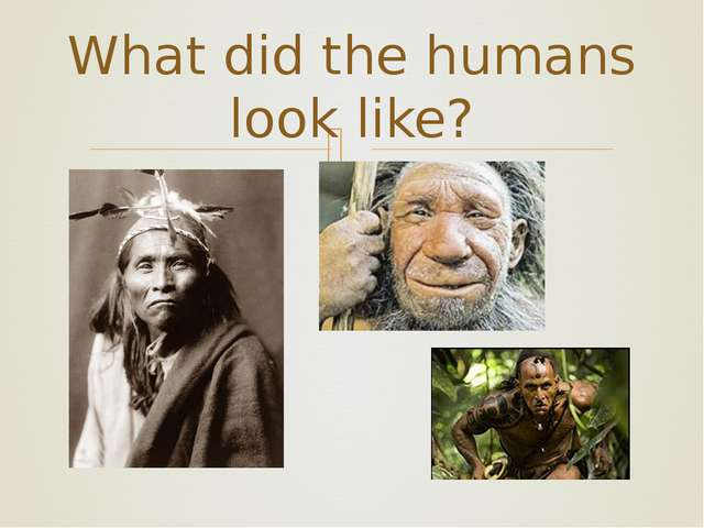 What did the humans look like? ❧