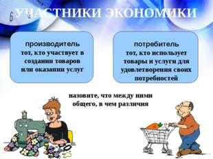 производитель тот, кто участвует в создании товаров или оказании услуг потре
