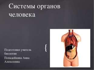 Подготовил учитель биологии Попадейкина Анна Алексеевна Системы органов челов