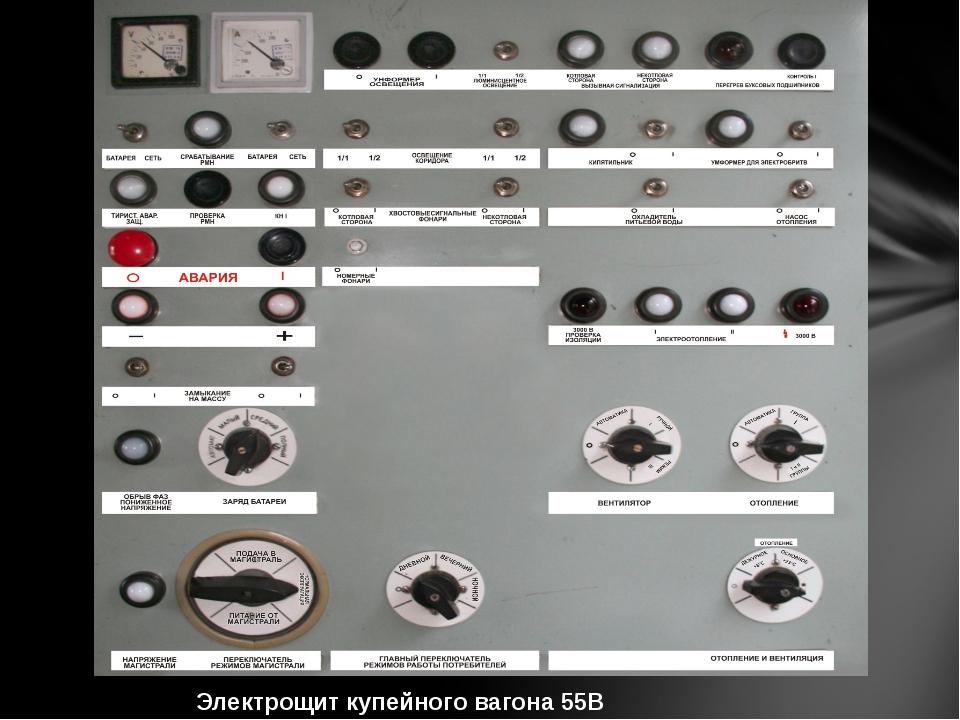 Электрощит купейного вагона 55В производства ГДР
