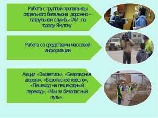 Работа с группой пропаганды отдельного батальона дорожно – патрульной службы