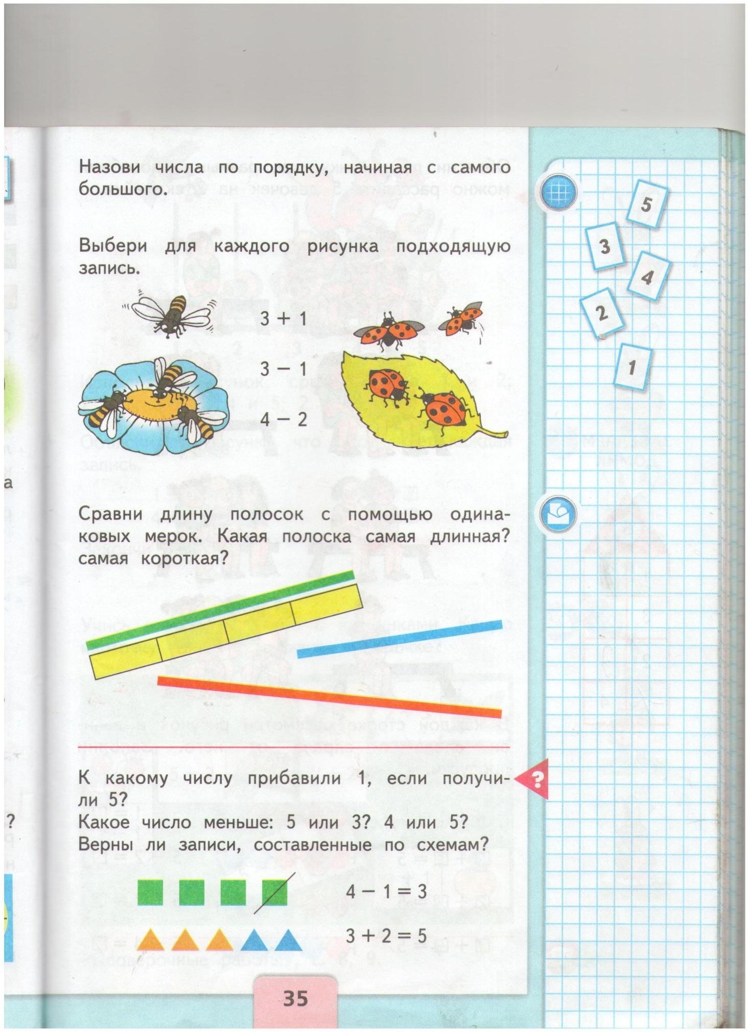 Поурочный план по математике 1 класс на тему цифра