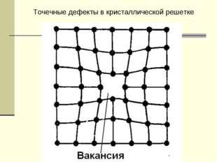Точечные дефекты в кристаллической решетке
