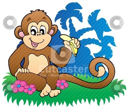 улыбаясь - обезьяны - cartoon - объекты - легкий - вектора -…