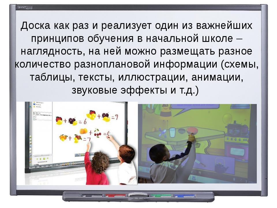 Доска как раз и реализует один из важнейших принципов обучения в начальной шк...