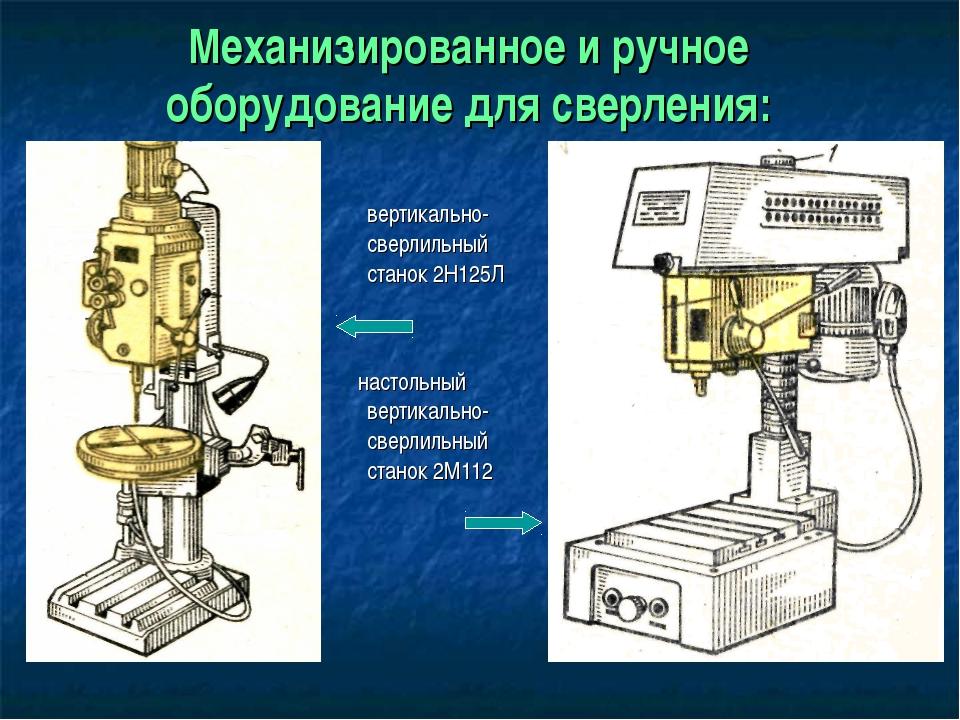 Механизированное и ручное оборудование для сверления: вертикально- сверлильны...