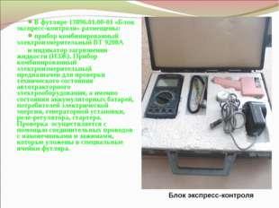 В футляре 13896.01.00-01 «Блок экспресс-контроля» размещены: прибор комбиниро