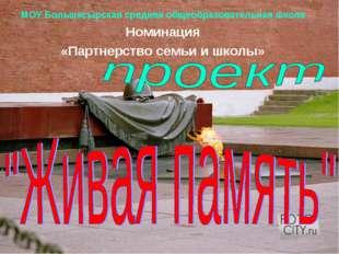МОУ Большесырская средняя общеобразовательная школа Номинация «Партнерство се