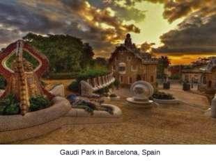 Gaudi Park in Barcelona, Spain