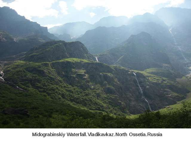 Midograbinskiy Waterfall.Vladikavkaz.North Ossetia.Russia