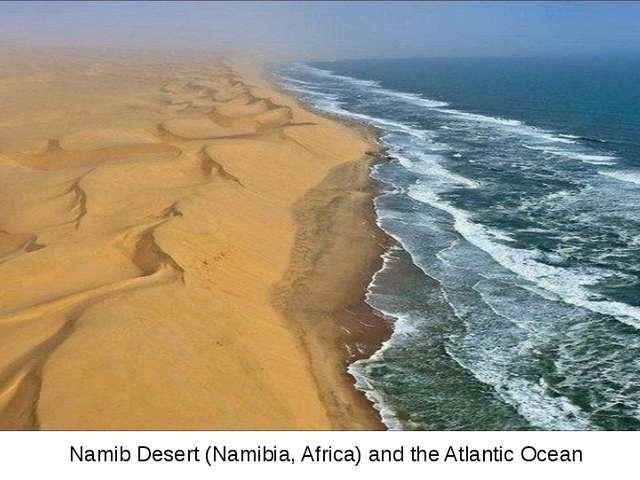 Namib Desert (Namibia, Africa) and the Atlantic Ocean
