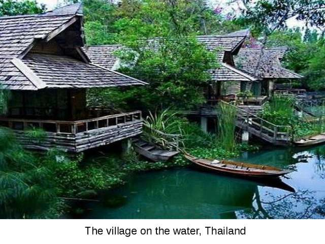The village on the water, Thailand