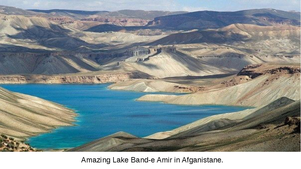 Amazing Lake Band-e Amir in Afganistane.