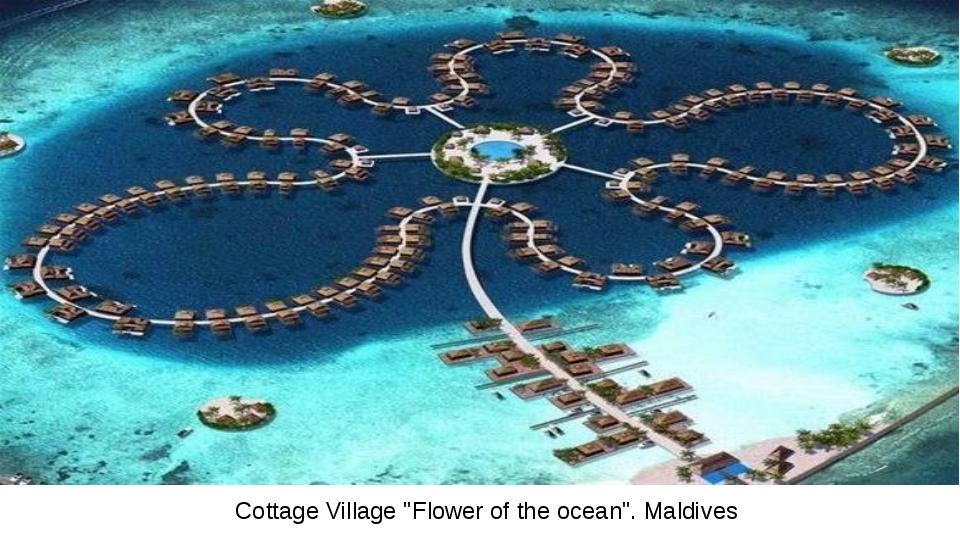 "Cottage Village ""Flower of the ocean"". Maldives"