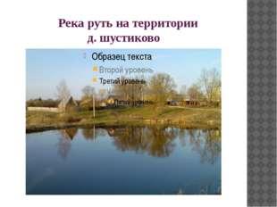 Река руть на территории д. шустиково