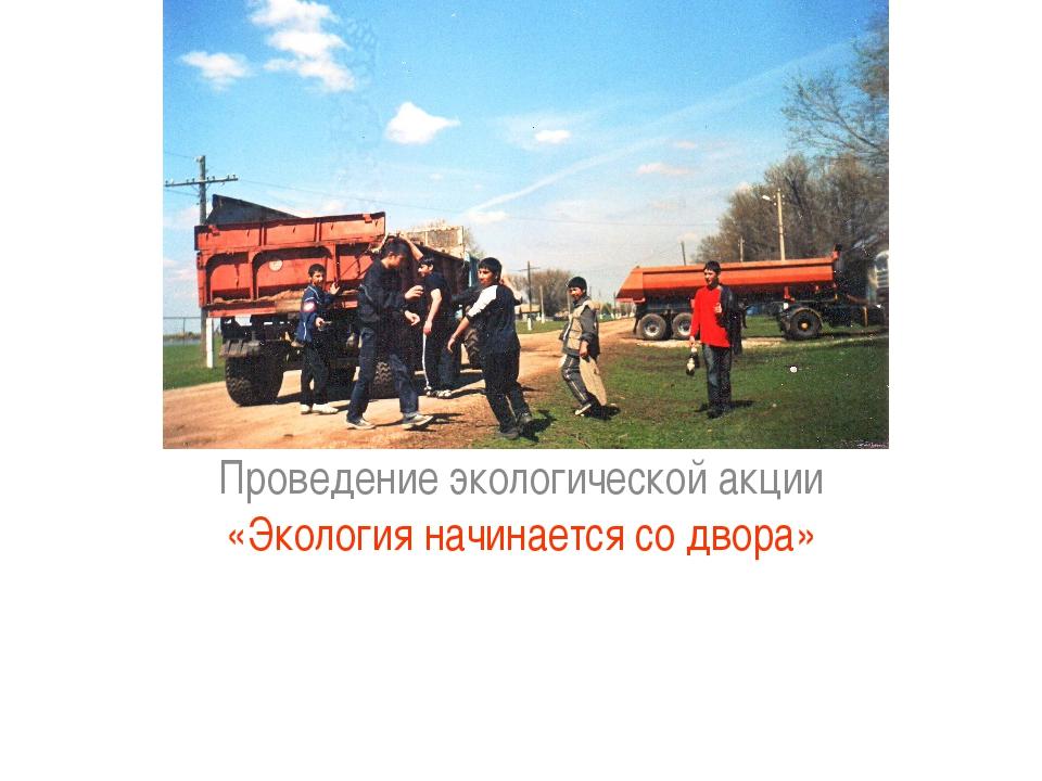Пути решения: Проведение экологической акции «Экология начинается со двора»
