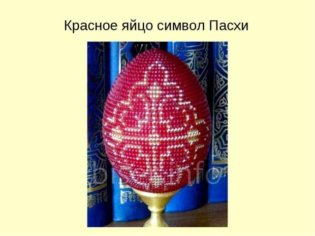 Красное яйцо символ Пасхи