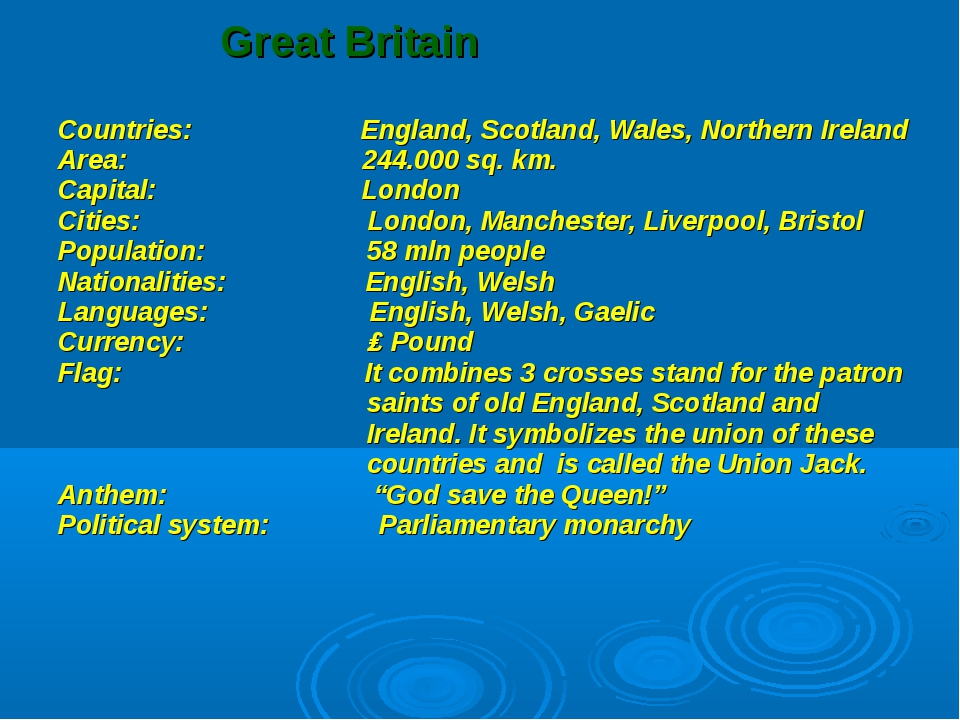 Great Britain Countries: England, Scotland, Wales, Northern Ireland Area: 24...