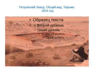 Петровский Завод. Общий вид. Тюрьма. 1834 год