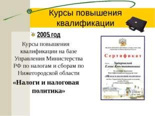 Курсы повышения квалификации 2008 год Курсы повышения квалификации на базе Н