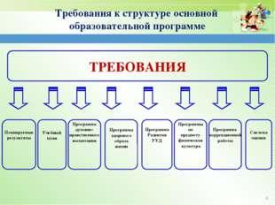 ТРЕБОВАНИЯ Планируемые результаты Программа здорового образа жизни Учебный п