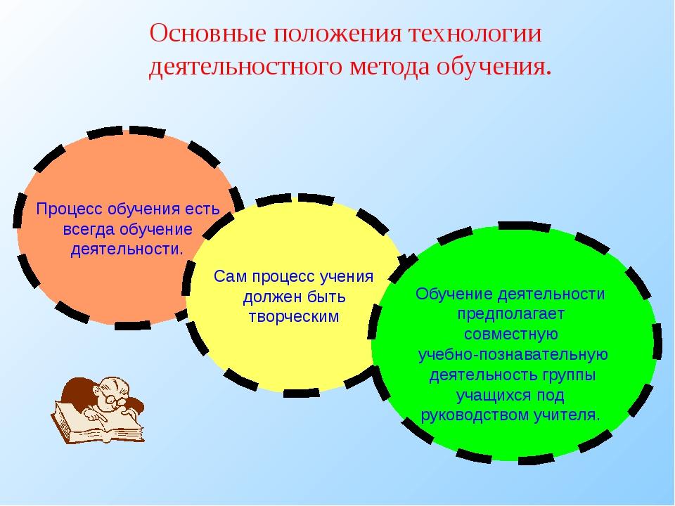 Основные положения технологии деятельностного метода обучения.