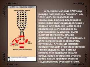 """На рассвете 5 апреля 1242 года рыцари построились """"клином"""", или """"свинье"""