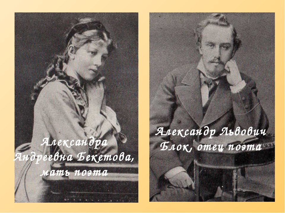 Александра Андреевна Бекетова, мать поэта Александр Львович Блок, отец поэта