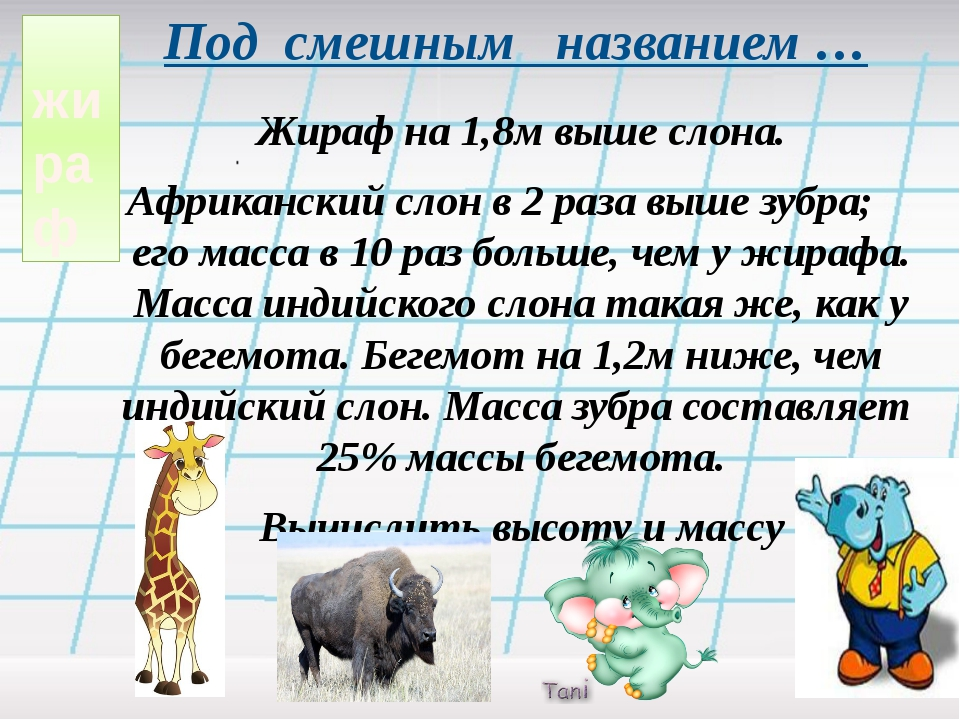 жираф Под смешным названием … Жираф на 1,8м выше слона. Африканский слон в 2...