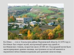 Костёнки — село в Хохольском районе Воронежской области. В 1979 году в Костён
