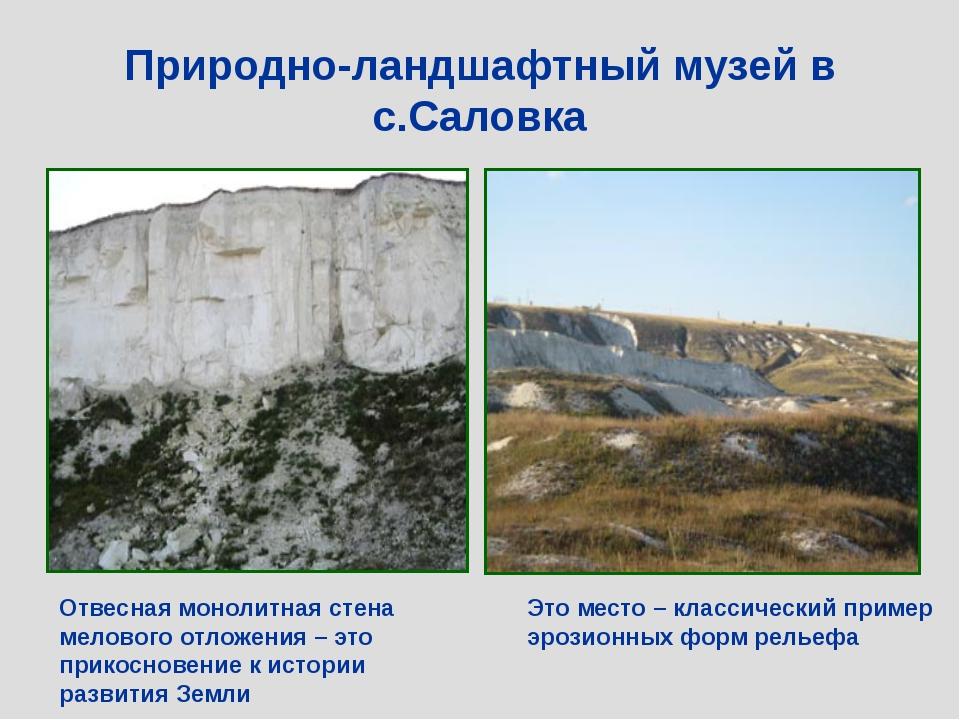 Природно-ландшафтный музей в с.Саловка Это место – классический пример эрозио...
