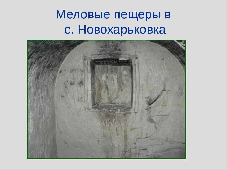 Меловые пещеры в с. Новохарьковка