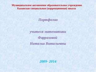 Муниципальное автономное образовательное учреждение Казанская специальная (ко