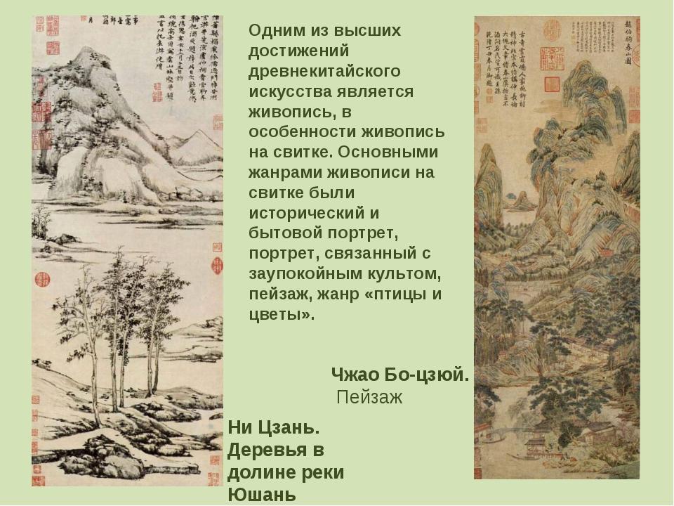 Ни Цзань. Деревья в долине реки Юшань Чжао Бо-цзюй. Пейзаж Одним из высших до...