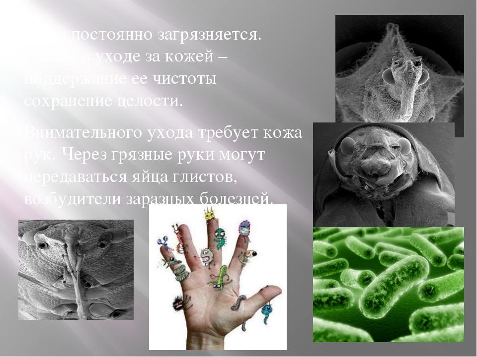 Кожа постоянно загрязняется. Гавное в уходе за кожей – поддержание ее чистоты...