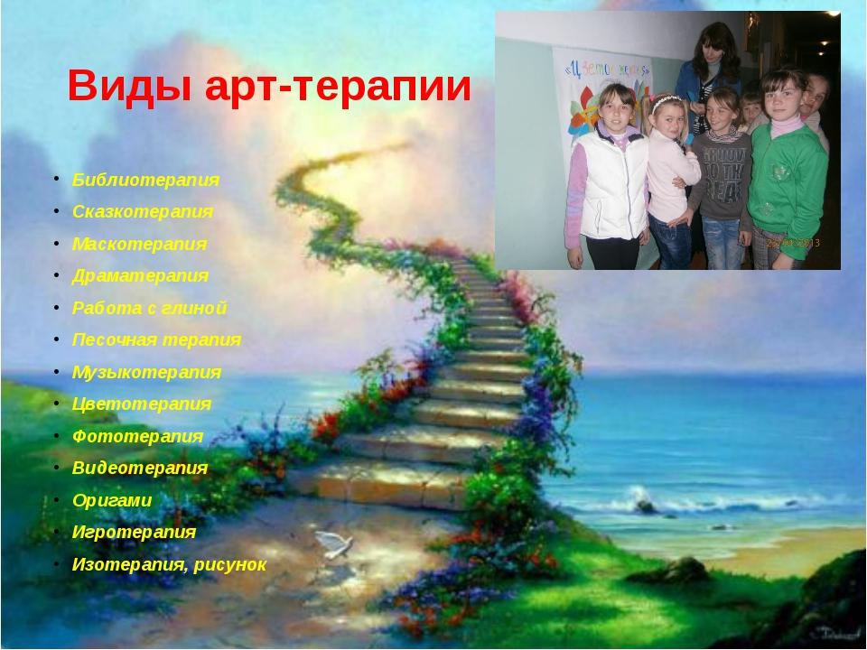 Виды арт-терапии Библиотерапия Сказкотерапия Маскотерапия Драматерапия Работа...