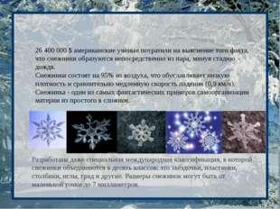 26 400 000 $ американские ученые потратили на выяснение того факта, что снежи