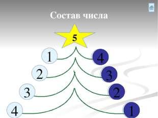 Состав числа 5 1 2 4 3 2 3 4 1