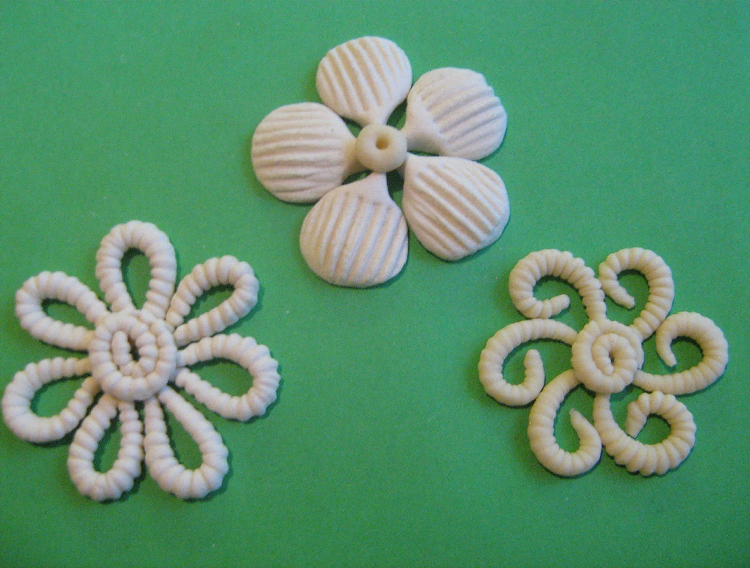 Цветы и листья из соленого теста мастер-класс - Колобок 72