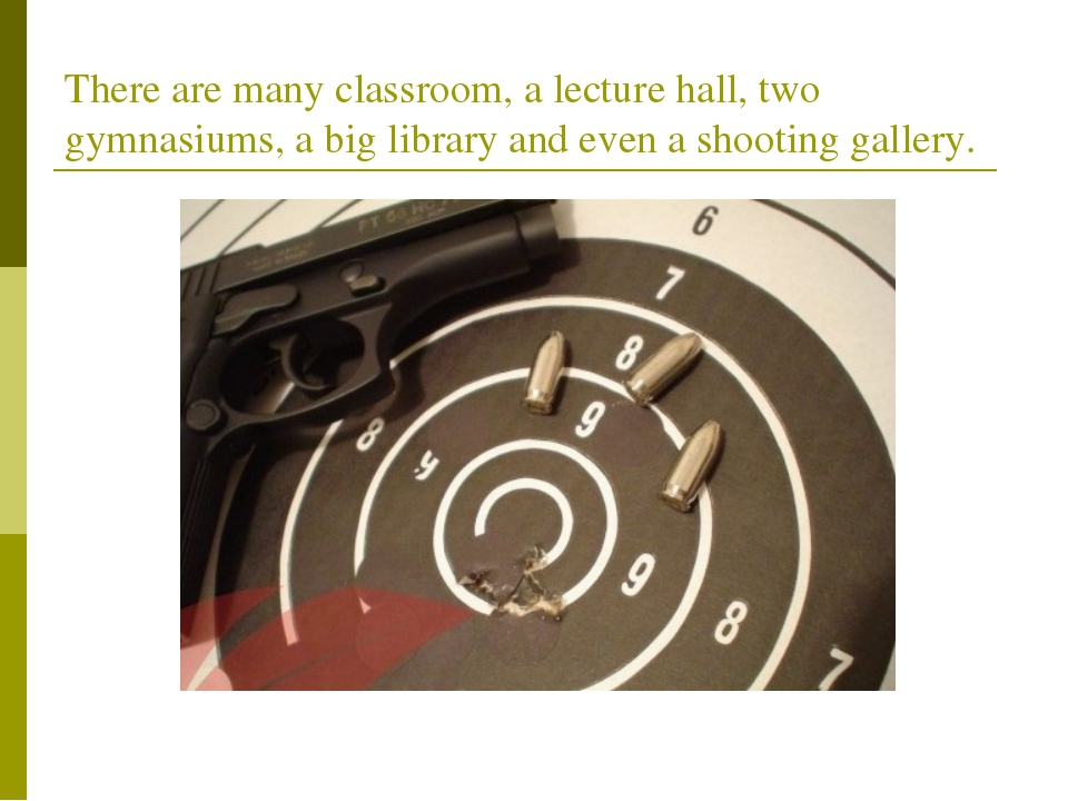 There are many classroom, a lecture hall, two gymnasiums, a big library and e...