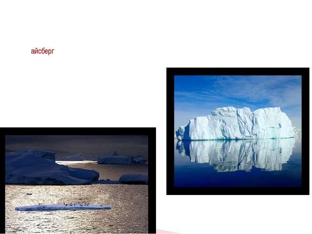 """Слово """"айсберг"""" переводится как """"ледяная гора"""". Самый большой айсберг был обн..."""